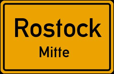 Straßenverzeichnis Rostock Mitte