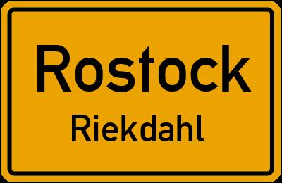 Straßenverzeichnis Rostock Riekdahl
