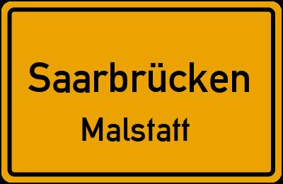 Ortsschild Saarbrücken Malstatt