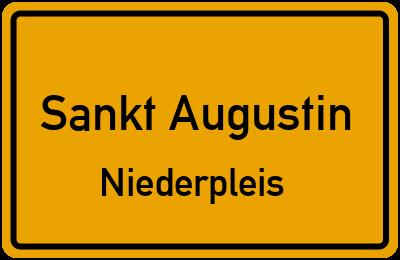 Ortsschild Sankt Augustin Niederpleis