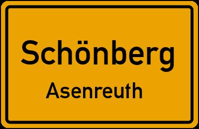 Ortsschild Schönberg Asenreuth