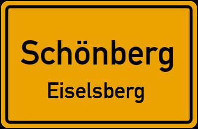 Ortsschild Schönberg Eiselsberg