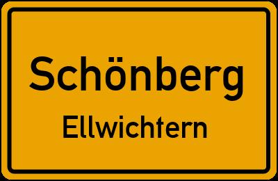 Ortsschild Schönberg Ellwichtern