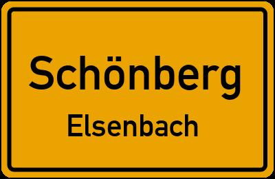 Ortsschild Schönberg Elsenbach
