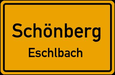 Ortsschild Schönberg Eschlbach