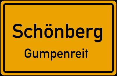 Ortsschild Schönberg Gumpenreit