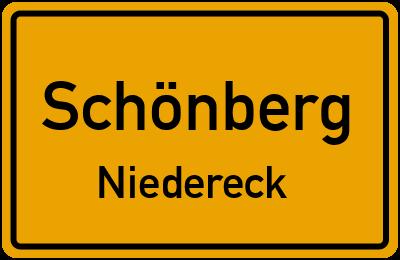 Ortsschild Schönberg Niedereck