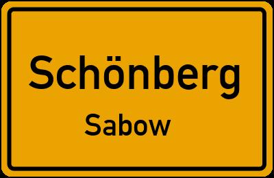 Dorfstraße in SchönbergSabow