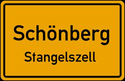 Ortsschild Schönberg Stangelszell