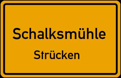 Ortsschild Schalksmühle Strücken