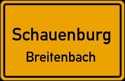 Ortsschild Schauenburg Breitenbach