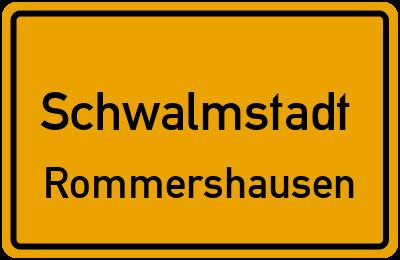 Ortsschild Schwalmstadt Rommershausen