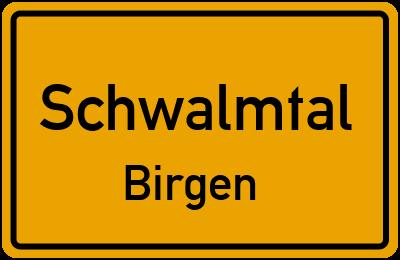 Ortsschild Schwalmtal Birgen
