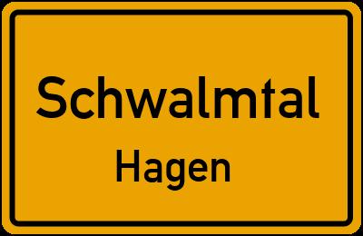 Ortsschild Schwalmtal Hagen