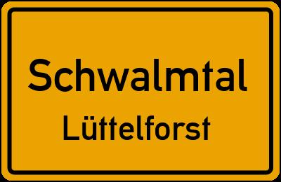 Ortsschild Schwalmtal Lüttelforst