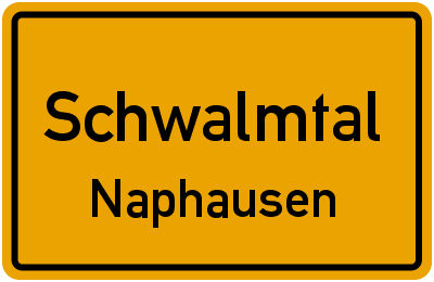Ortsschild Schwalmtal Naphausen