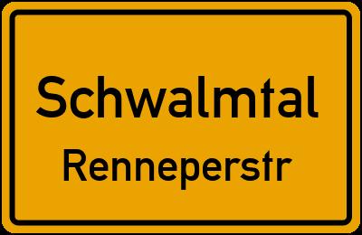 Ortsschild Schwalmtal Renneperstr.