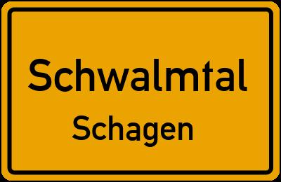 Ortsschild Schwalmtal Schagen