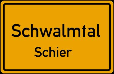 Ortsschild Schwalmtal Schier