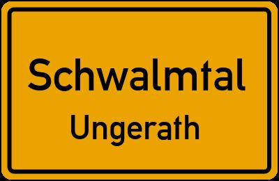 Ortsschild Schwalmtal Ungerath