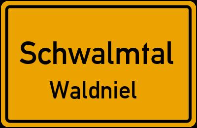 Ortsschild Schwalmtal Waldniel