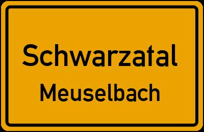 Ernst-Eberhardt-Straße Schwarzatal Meuselbach