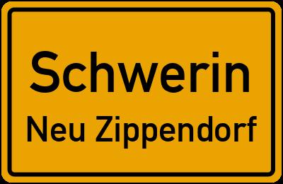 Straßenverzeichnis Schwerin Neu Zippendorf