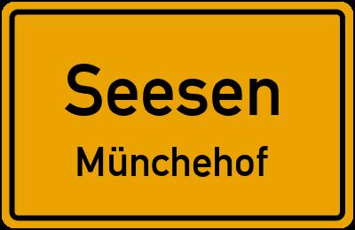 Ortsschild Seesen Münchehof