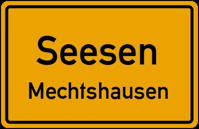 Ortsschild Seesen Mechtshausen