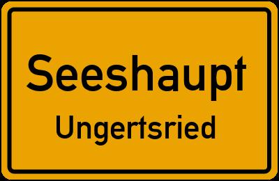 Ortsschild Seeshaupt Ungertsried