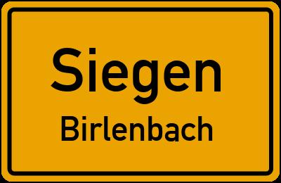 Ortsschild Siegen Birlenbach