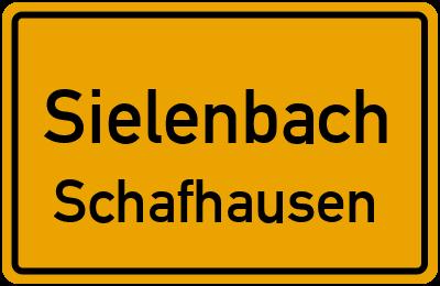 Ortsschild Sielenbach Schafhausen