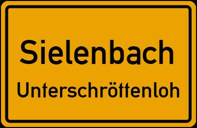 Ortsschild Sielenbach Unterschröttenloh