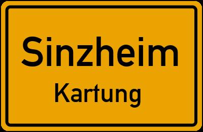 Ortsschild Sinzheim Kartung
