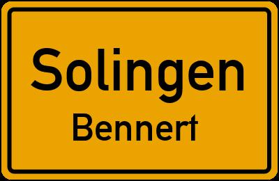 Ortsschild Solingen Bennert