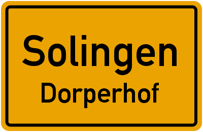 Ortsschild Solingen Dorperhof