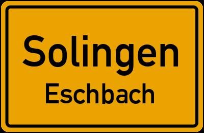 Ortsschild Solingen Eschbach