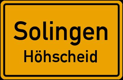 Ortsschild Solingen Höhscheid
