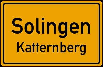 Ortsschild Solingen Katternberg