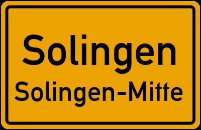 Ortsschild Solingen Solingen-Mitte