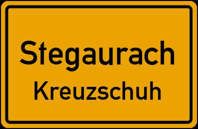 Straßenverzeichnis Stegaurach Kreuzschuh