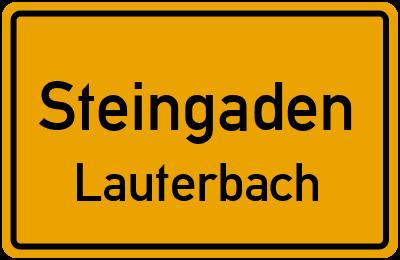 Hochplattstraße in SteingadenLauterbach