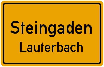 Tegelbergstraße in SteingadenLauterbach