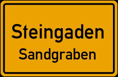 Krankenhausstraße in SteingadenSandgraben