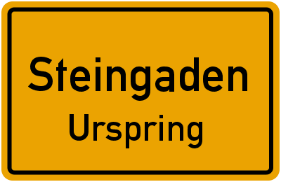 Angerweg in SteingadenUrspring