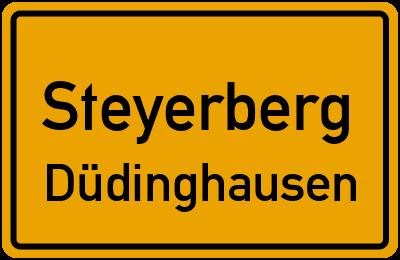 Ortsschild Steyerberg Düdinghausen
