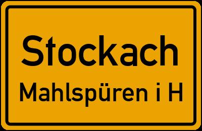 Ortsschild Stockach Mahlspüren i.H.