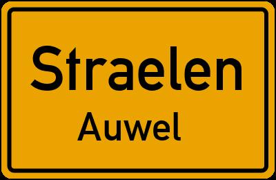 Ortsschild Straelen Auwel