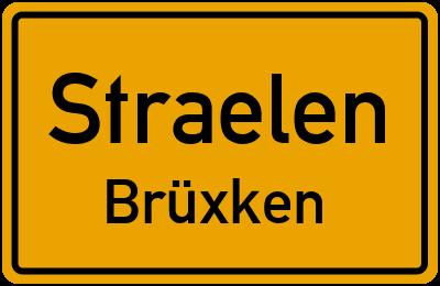 Ortsschild Straelen Brüxken