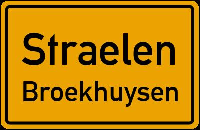 Ortsschild Straelen Broekhuysen
